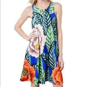 Mara Hoffman Flora Swing Dress Tropical Sleeveless